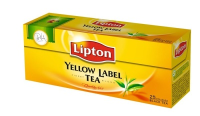 "Fekete tea, 25x2 g, LIPTON ""Yellow label"""
