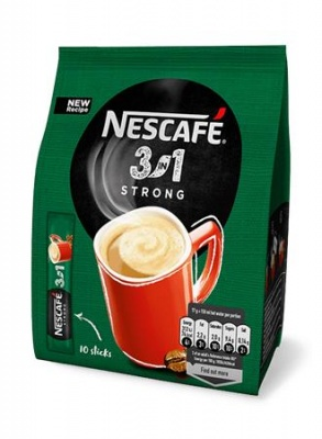 "Instant kávé stick, 10x17 g, NESCAFÉ,  3in1 ""Strong"""