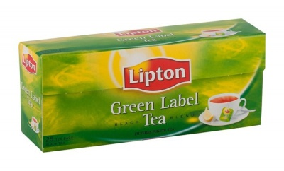"Fekete tea, 25x2 g, LIPTON, ""Green label"""